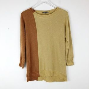 Cable & Gauge Two Tone Sweater